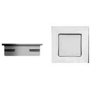 Cabinet Flush Handle - 30mm - Chrome Plated Finish