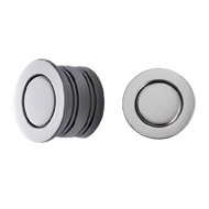 Cabinet Flush Knob - 30mm - Chrome Plated Finish