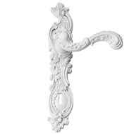 ROCOCO POP Lever Handle in Wh
