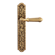 Doha Lever Handle On Plate in Old Gold