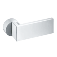 Page Pair Lever Handle on Rose in White Finish