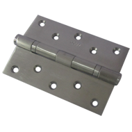 Two Ball Bearing Flat Button Door Hinges - Satin Finish - 5InchX3.5InchX3 mm