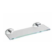 Ventis Shelf Holder with Glass - Chrome Plated Finish