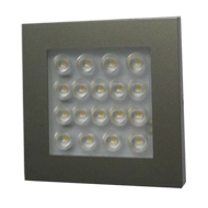 LED Spotlights Surface Mounted EQ - LED - 1.2W  -  Stainless Steel & Cool White Fini