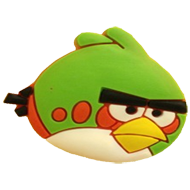 Green Angry Bird Cabinet Knob