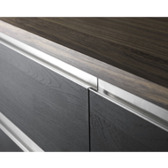 WALL 1 Cabinet Profile Handle - 296mm - Inox Look Finish