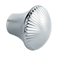 Inox Look finish Modern Cabinet Knob in