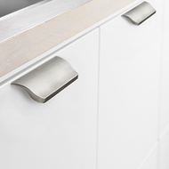 SONATA Cabinet Handle - 96mm - Bright Chrome Finish Modern Design