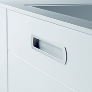 LUX - Cabinet Flush Handle - Bright Chr