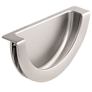 DEMI - Cabinet Flush Handle - Inox Look Finish - 46mm