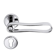 INFINITO Lever Handle On Rose in Black