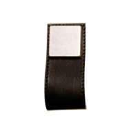 Cabinet Leather Pull - 84mm - Brass / B
