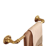 Calliope Towel Bar - 450mm - Old Gold F