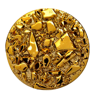 NUGGEST Jewellery Round Cabinet  Knob in Gold Finish