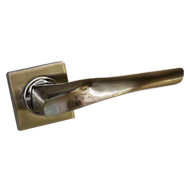 ATOM Lever Handle on Rose with Cylinder