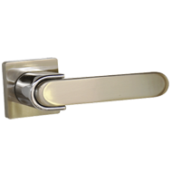 EWIN Lever Handle on Rose with Cylinder