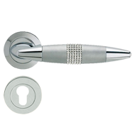 HAVANA Swarovski Lever Handle in Polished Chrome Finish