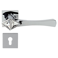 COMETA Crystal Swarovski Lever Handle in Polished Chrome Finish