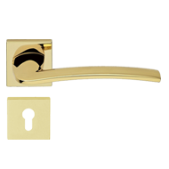 ALA Door Lever Handle in Gold Plated Fi