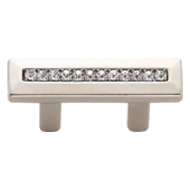 Modern Cabinet Handle - 32mm -  Crystal