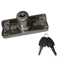 Bar Lock with Up & Down - 20mm - Nickel