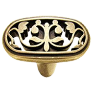 Cabinet Knob in Antique Bronze Finish