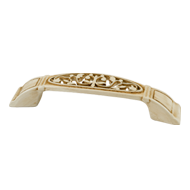 Cabinet Handle - 96mm - Old Bone Finish