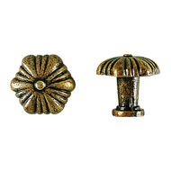 Cabinet Knob - 29mm - Antique Bronze Fi