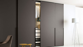 Automatic Overlap Wardrobe Two Door Fitting