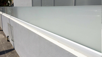 Adjustable Railing System on the top of the wall
