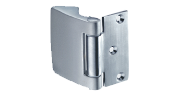 HOLLAND VERTICAL SIDE HINGE with fixing plate for rebates from 40 to 50 mm - Satin C