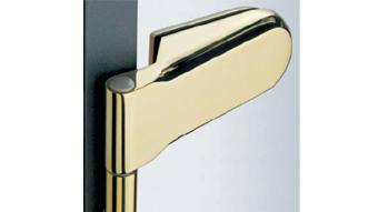 Side hinge Tonda german type - Satin Chrome Finish