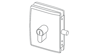 MINIMA DEADLOCK for cylinder (PZ) - Satin Chrome Finish