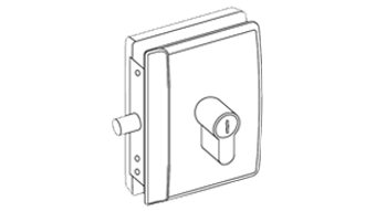 MINIMA DEADLOCK for cylinder (PZ) with rebate for rebated doors - Right - Satin Chro