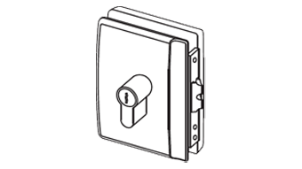 MINIMA LOCK double bevelled latch with rebate for rebated doors - Right - Satin Chro