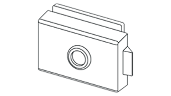 Compact Lock Square - Satin Chrome Finish