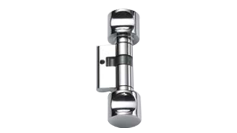 W.C. Cylinder - with double knob - Polished Brass Finish