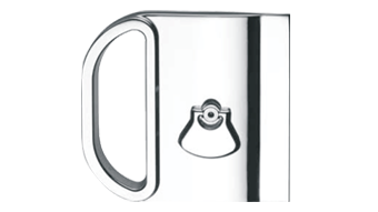 Lock with flush pull for disappearing doors - both side lever - Satin Nickel Finish