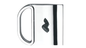 Lock with flush pull for disappearing doors - Both side key - Satin Nickel Finish