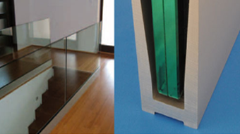 Profiles for glass railings - fixing with wedges - Length 3000mm